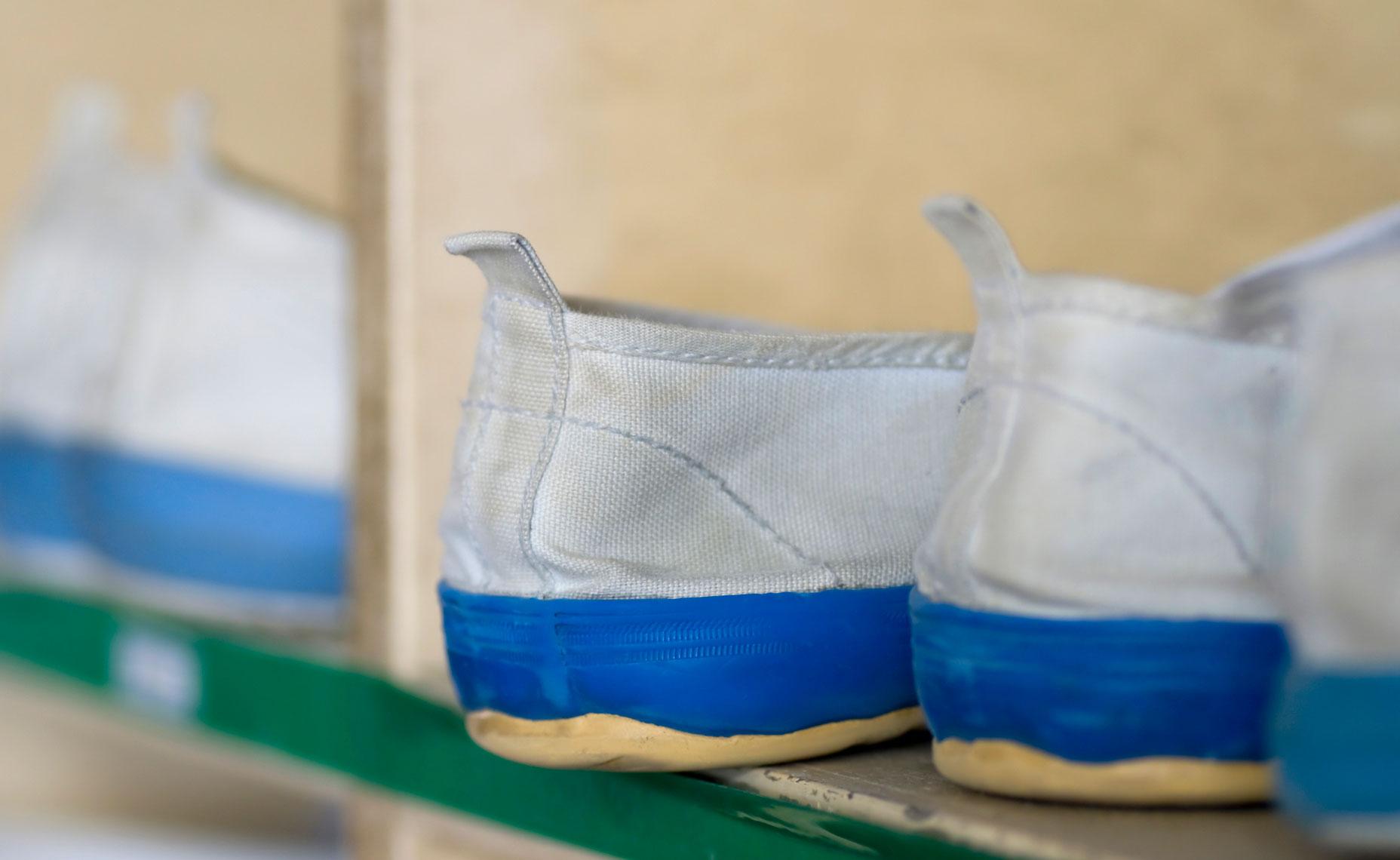 上靴のしつこい汚れをピカピカにする洗濯術