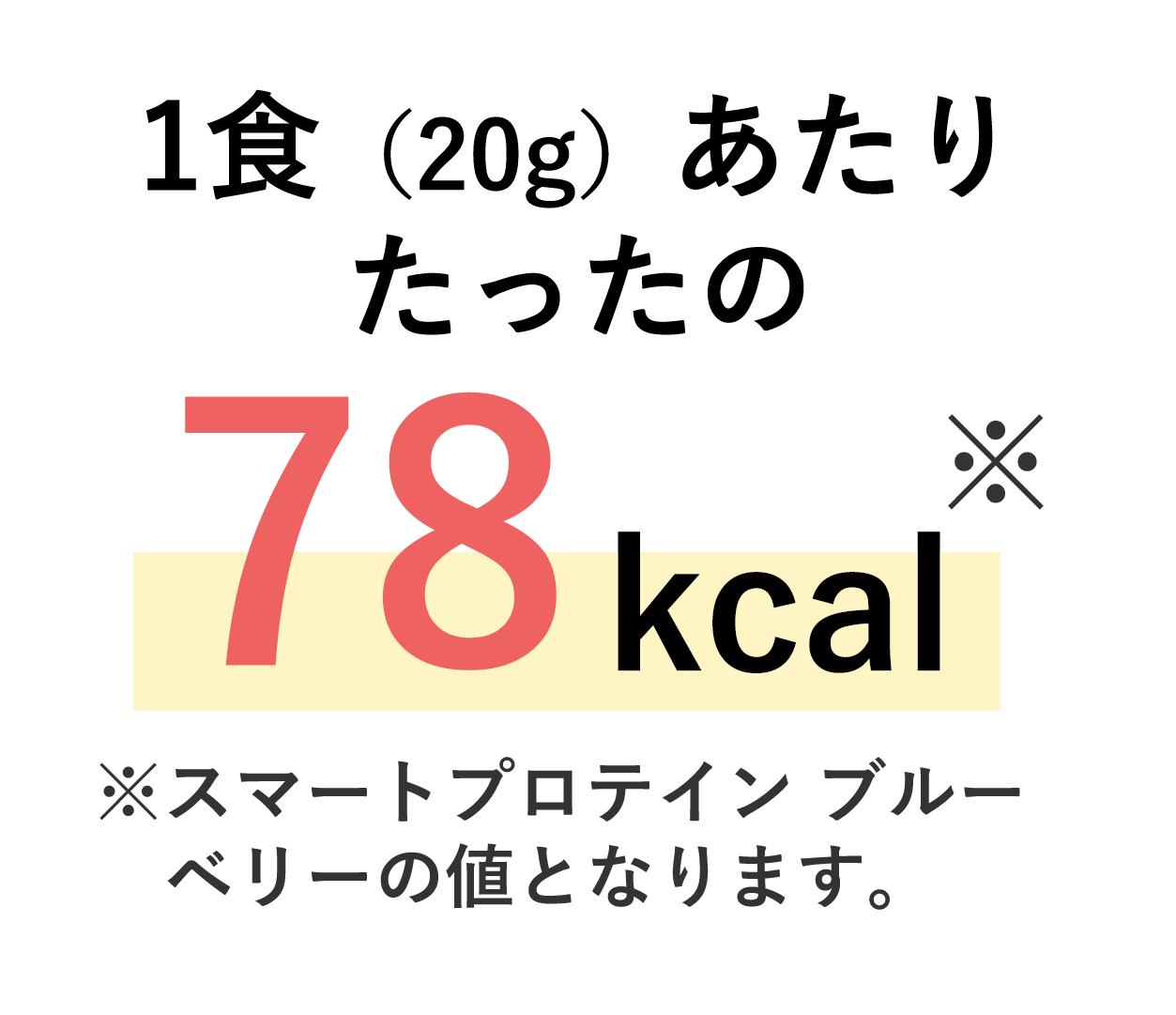 スマートプロテインの1食あたりのカロリーはたったの78kcal。